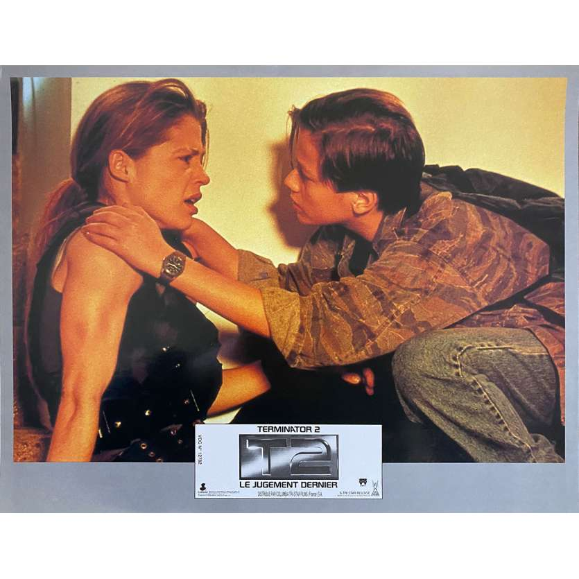TERMINATOR 2 Original Lobby Card N2 - 9x12 in. - 1992 - James Cameron, Arnold Schwarzenegger