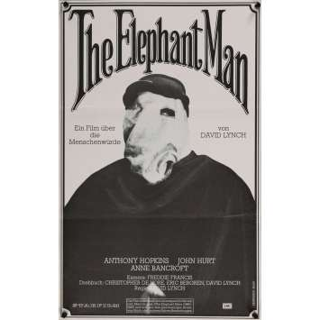 ELEPHANT MAN Affiche de film 39x62 - 1980 - John Hurt, David Lynch