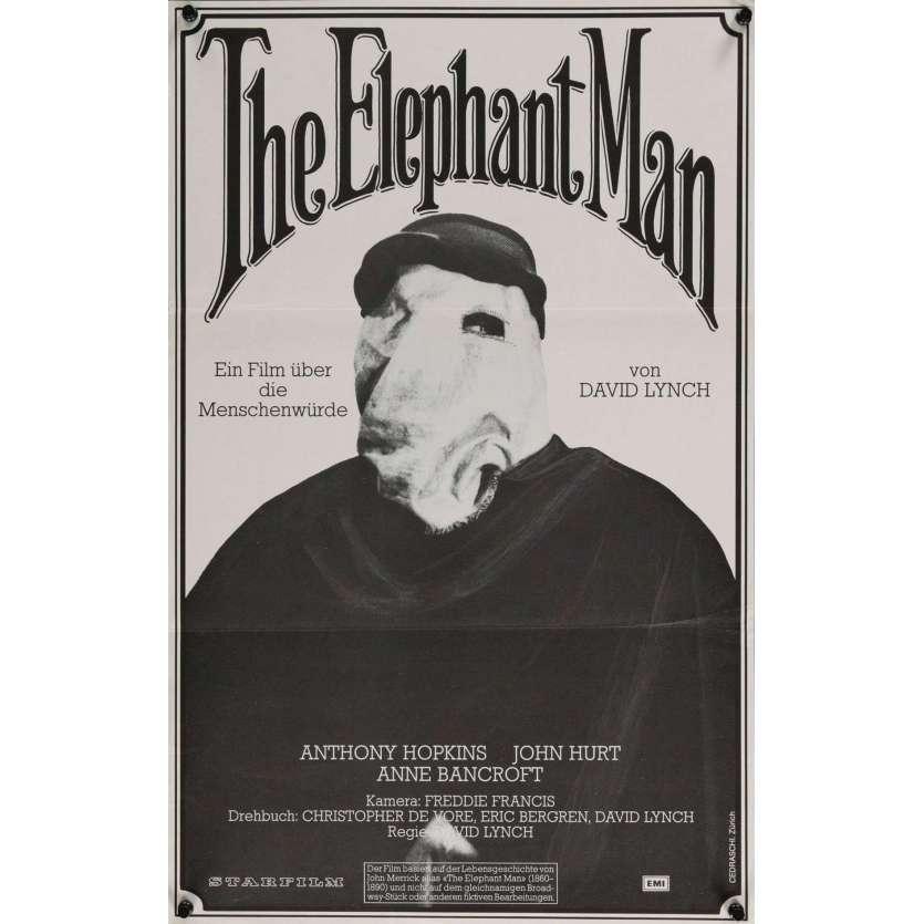 ELEPHANT MAN Affiche de film 39x62 - 1980 - John Hurt, David Lynch