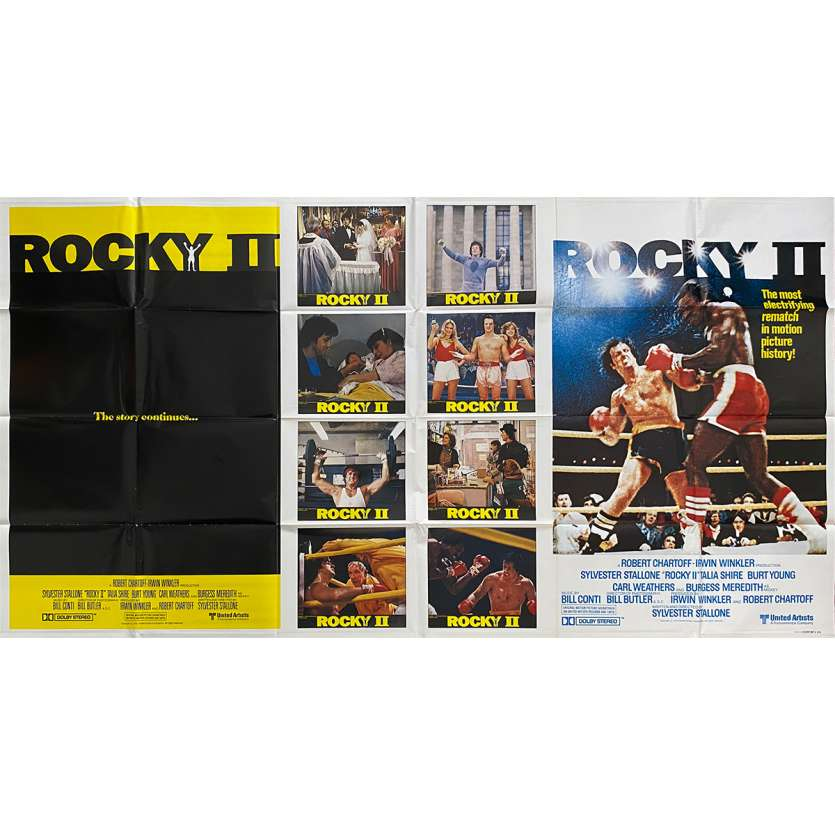 ROCKY 2 One Stop Subway Movie Poster - 41x77 in. - 1979 - Sylvester Stallone, Carl Weathers