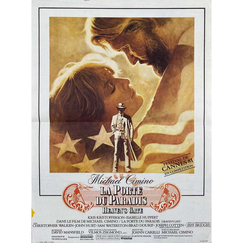 HEAVEN'S GATE Original Movie Poster - 15x21 in. - 1980 - Michael Cimino, Christopher Walken