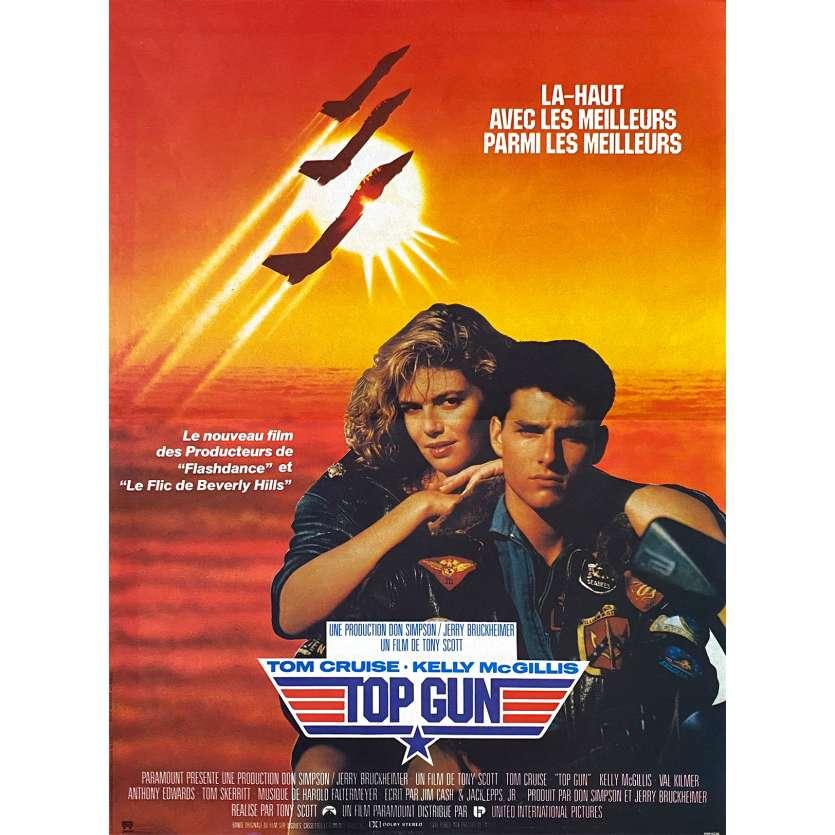 TOP GUN Affiche de film 40x60 - 1986 - Tom Cruise, Tony Scott, avion