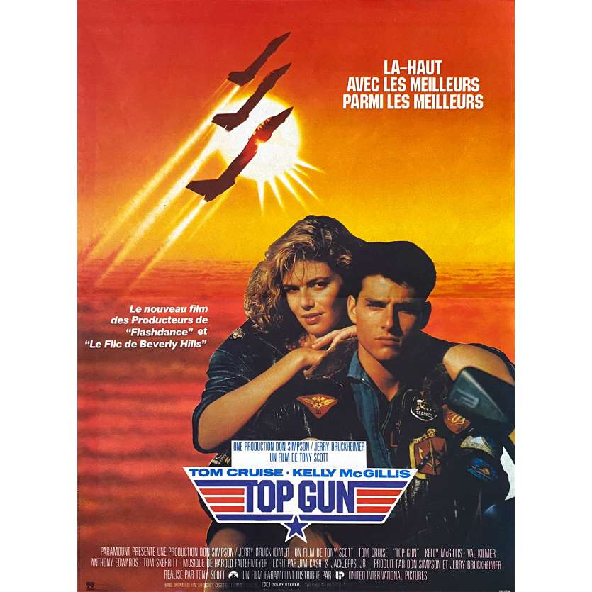 TOP GUN French Movie Poster 15x21 - 1986 - Tony Scott, Tom Cruise