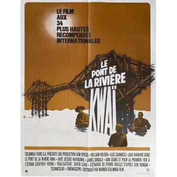 LE PONT DE LA RIVIERE KWAI Affiche de film - 60x80 cm. - 1957 - William Holden, David Lean