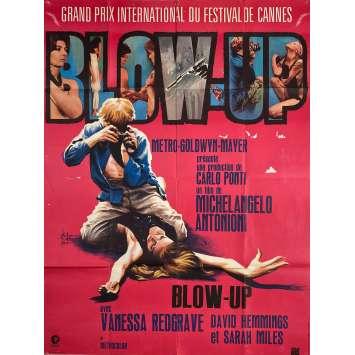 BLOW UP Affiche de film 120x160 - 1969 - David Hemmings, Michelangelo Antonioni