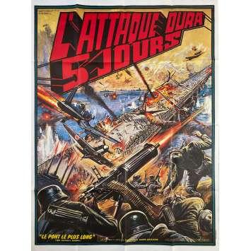 L'ATTAQUE DURA 5 JOURS Affiche de film - 120x160 cm. - 1976 - Chun Hsiung Ko, Shan-Hsi Ting