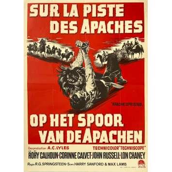 SUR LA PISTE DES APACHES Affiche de film - 35x55 cm. - 1965 - Rory Calhoun, R.G. Springsteen