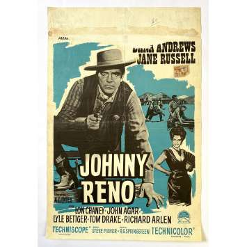 JOHNNY RENO Original Movie Poster - 14x21 in. - 1966 - R.G. Springsteen, Dana Andrews, Jane Russell