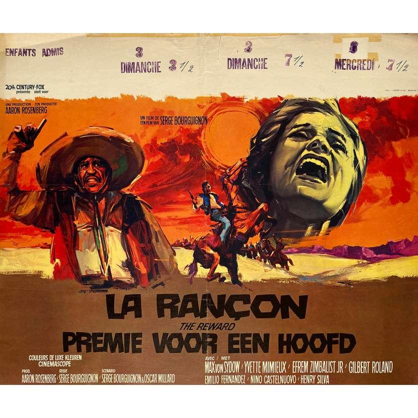 LA RECOMPENSE Affiche de film - 35x55 cm. - 1965 - Max von Sydow, Yvette Mimieux, Serge Bourguignon