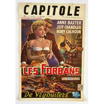 LES FORBANS Affiche de film - 35x55 cm. - 1955 - Anne Baxter, Rory Calhoun, Jesse Hibbs