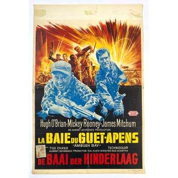 AMBUSH BAY Original Movie Poster - 14x21 in. - 1966 - Ron Winston, Hugh O'Brian, Mickey Rooney