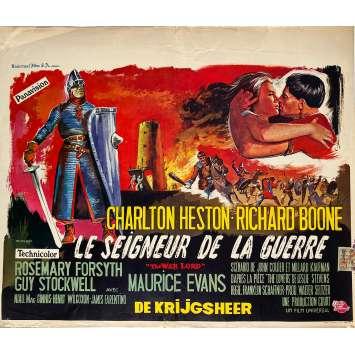 THE WAR LORD Original Movie Poster - 14x21 in. - 1965 - Franklin J. Schaffner, Charlton Heston
