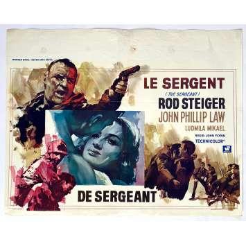 THE SERGEANT Original Movie Poster - 14x21 in. - 1968 - John Flynn, Rod Steiger, John Phillip Law