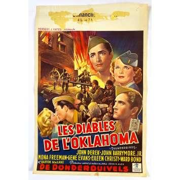 LES DIABLES DE L'OKLAHOMA Affiche de film - 35x55 cm. - 1952 - John Derek, John H. Auer