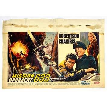 633 SQUADRON Original Movie Poster - 14x21 in. - 1964 - Walter Grauman , Cliff Robertson