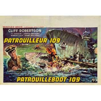 PATROUILLEUR 109 Affiche de film - 35x55 cm. - 1963 - Cliff Robertson, Leslie H. Martinson
