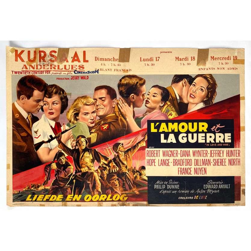 LE TEMPS DE LA PEUR Affiche de film - 35x55 cm. - 1958 - Robert Wagner, Dana Wynter, Philip Dunne