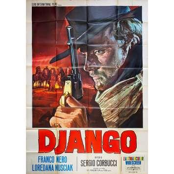 DJANGO Affiche de film Italienne - 1ère S - 140x200 cm. - 1966 - Franco Nero, Sergio Corbucci
