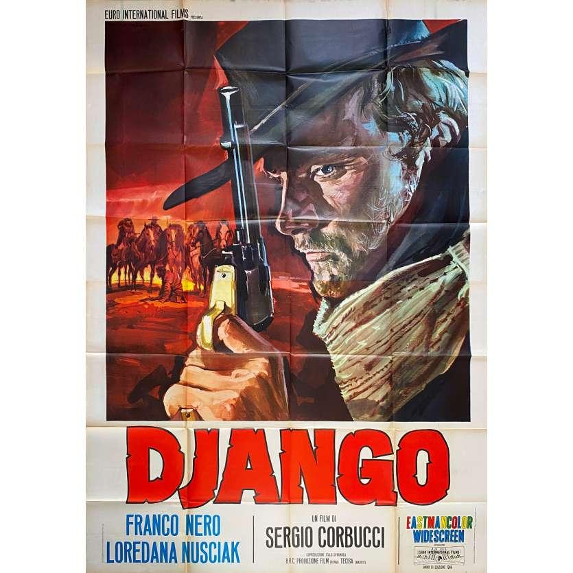 DJANGO Italian Movie Poster - 1st Release - 55x70 in. - 1966 - Sergio Corbucci, Franco Nero