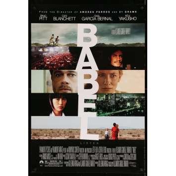 BABEL Affiche de film - 69x102 cm. - 2006 - Brad Pitt, Alejandro G. Iñárritu