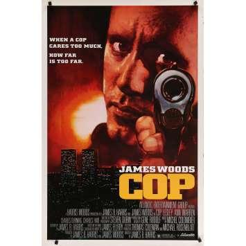 COP Affiche de film américaine - 1988 - James Woods, James Ellroy