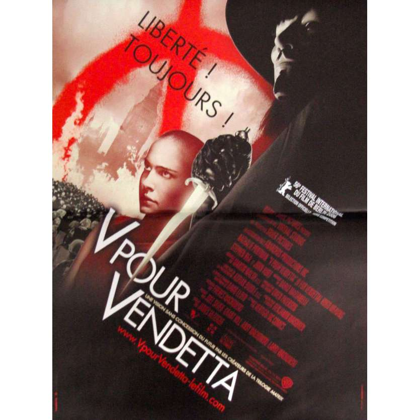 V FOR VENDETTA French Movie Poster 47x63 2006 Natalie Portman