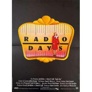RADIO DAYS Original Movie Poster - 15x21 in. - 1987 - Woody Allen, Mia Farrow