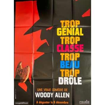 ESCROCS MAIS PAS TROP Affiche de film Adv. - 120x160 cm. - 2000 - Hugh Grant, Woody Allen