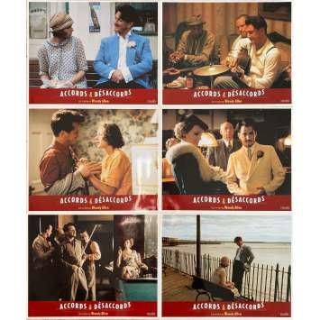 SWEET AND LOWDOWN Original Lobby Cards x6 - 9x12 in. - 1999 - Woody Allen, Sean Penn