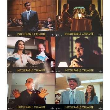 INTOLERABLE CRUELTY Original Lobby Cards x6 - 9x12 in. - 2003 - Joel Coen, George Clooney
