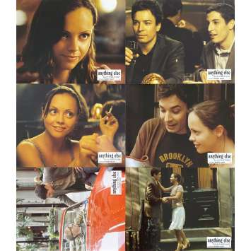ANYHTHING ELSE Original Lobby Cards x6 - 9x12 in. - 2003 - Woody Allen, Christina Ricci