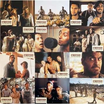 O BROTHER Photos de film x12 - 21x30 cm. - 2000 - George Clooney, John Turturro, Joel Coen