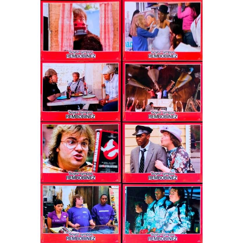 BE KIND, REWIND French Lobby Cards 9x12- 2008 - Michel Gondry, Jack Black