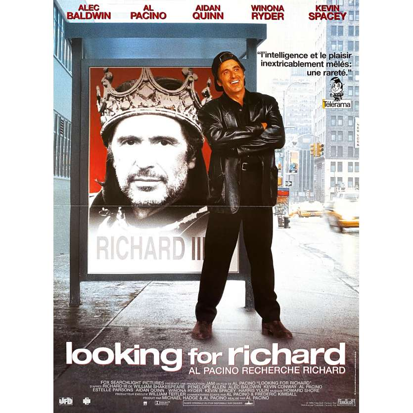 LOOKING FOR RICHARD French Movie Poster 15x21 - 1996 - Al Pacino, Kevin Spacey