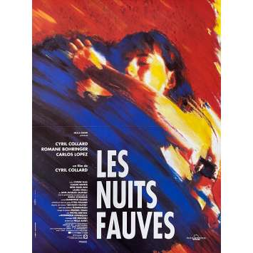 SAVAGE NIGHTS Movie Poster 15x21 in. - 1992 - Cyril Collard, Romane Bohringer