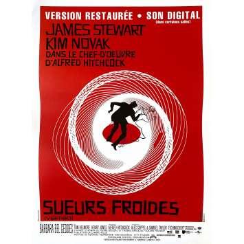 SUEURS FROIDES Affiche de film - 40x60 cm. - R1990 - James Stewart, Alfred Hitchcock
