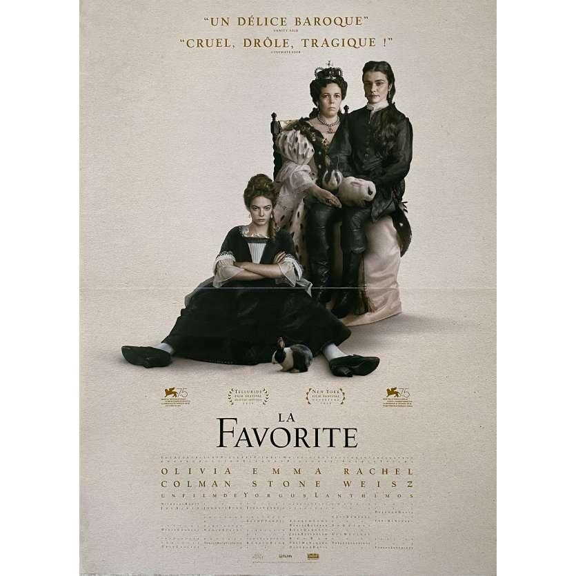 LA FAVORITE Affiche de film - 40x60 cm. - 2018 - Olivia Colman, Emma Stone, Yorgos Lanthimos