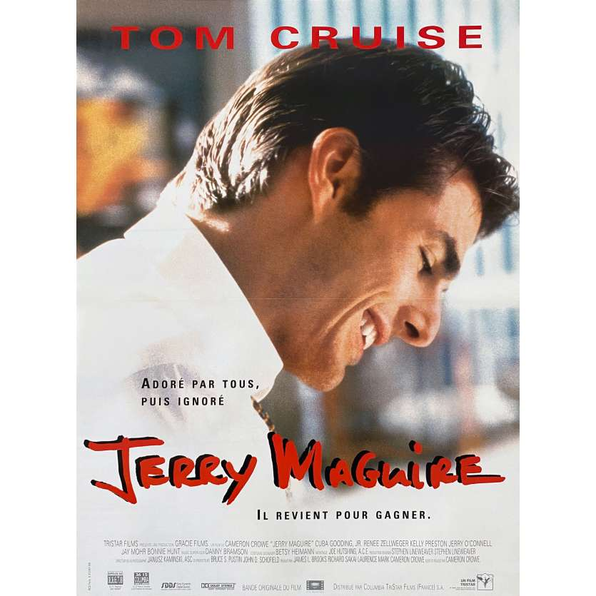 JERRY MAGUIRE Affiche de film - 40x60 cm. - 1996 - Tom Cruise, Cameron Crowe