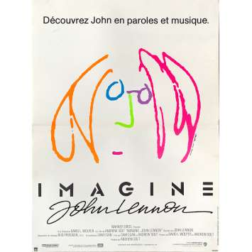 IMAGINE JOHN LENNON Affiche de film - 40x60 cm. - 1988 - Paul McCartney, Andrew Solt