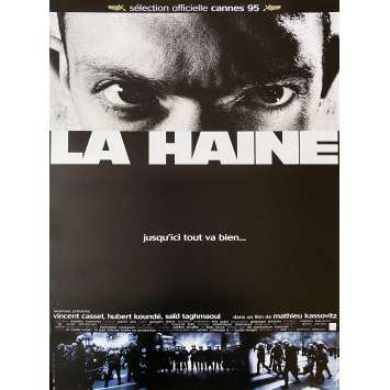 HATE Original Movie Poster - 15x21 in. - 1995 - Mathieu Kassovitz, Vincent Cassel