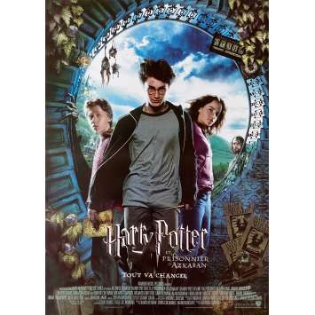 HARRY POTTER AND THE PRISONNER OF AZKABAN Original Movie Poster - 15x21 in. - 2004 - Alfonso Cuaron, Daniel Radcliffe