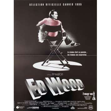 ED WOOD Original Movie Poster - 15x21 in. - 1994 - Tim Burton, Johnny Depp