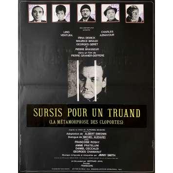 LA METAMORPHOSE DES CLOPORTES Affiche de film - 40x60 cm. - 1965 - Lino Ventura, Charles Aznavour, Pierre Granier-Deferre