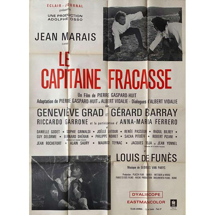 CAPITAINE FRACASSE Affiche de film - 120x160 cm. - 1961 - Jean Marais, Pierre Gaspard-Huit