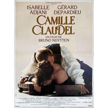 CAMILLE CLAUDEL Affiche de film - 40x60 cm. - 1988 - Isabelle Adjani, Gérard Depardieu, Bruno Nuytten