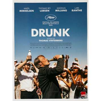 DRUNK Affiche de film - 40x60 cm. - 2020 - Mads Mikkelsen, Thomas Vinterberg