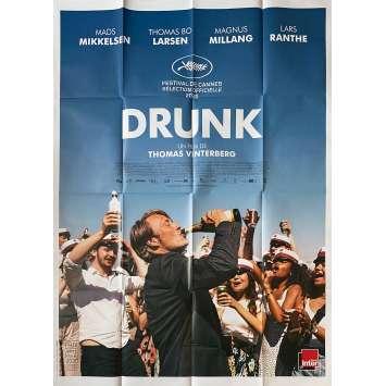 DRUNK Affiche de film - 120x160 cm. - 2020 - Mads Mikkelsen, Thomas Vinterberg