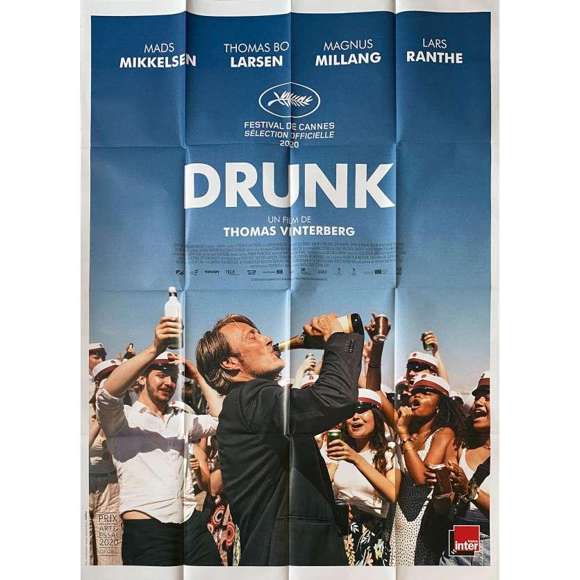 ANOTHER ROUND Original Movie Poster - 47x63 in. - 2020 - Thomas Vinterberg, Mads Mikkelsen