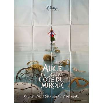 ALICE THROUGH THE LOOKING GLASS Original Movie Poster - 47x63 in. - 2016 - James Bobin, Johnny Depp