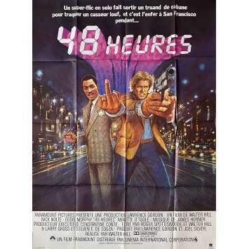 48 HEURES Affiche de film - 120x160 cm. - 1982 - Eddie Murphy, Walter Hill